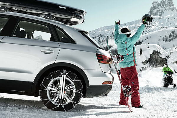 Audi Q2 (2016 onwards):Snow chains