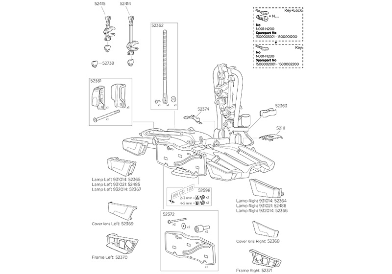 Thule EasyFold spare parts