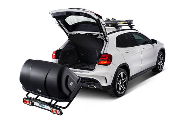 Citroen C4 three door (2005 to 2011):Tow bar racks and boxes