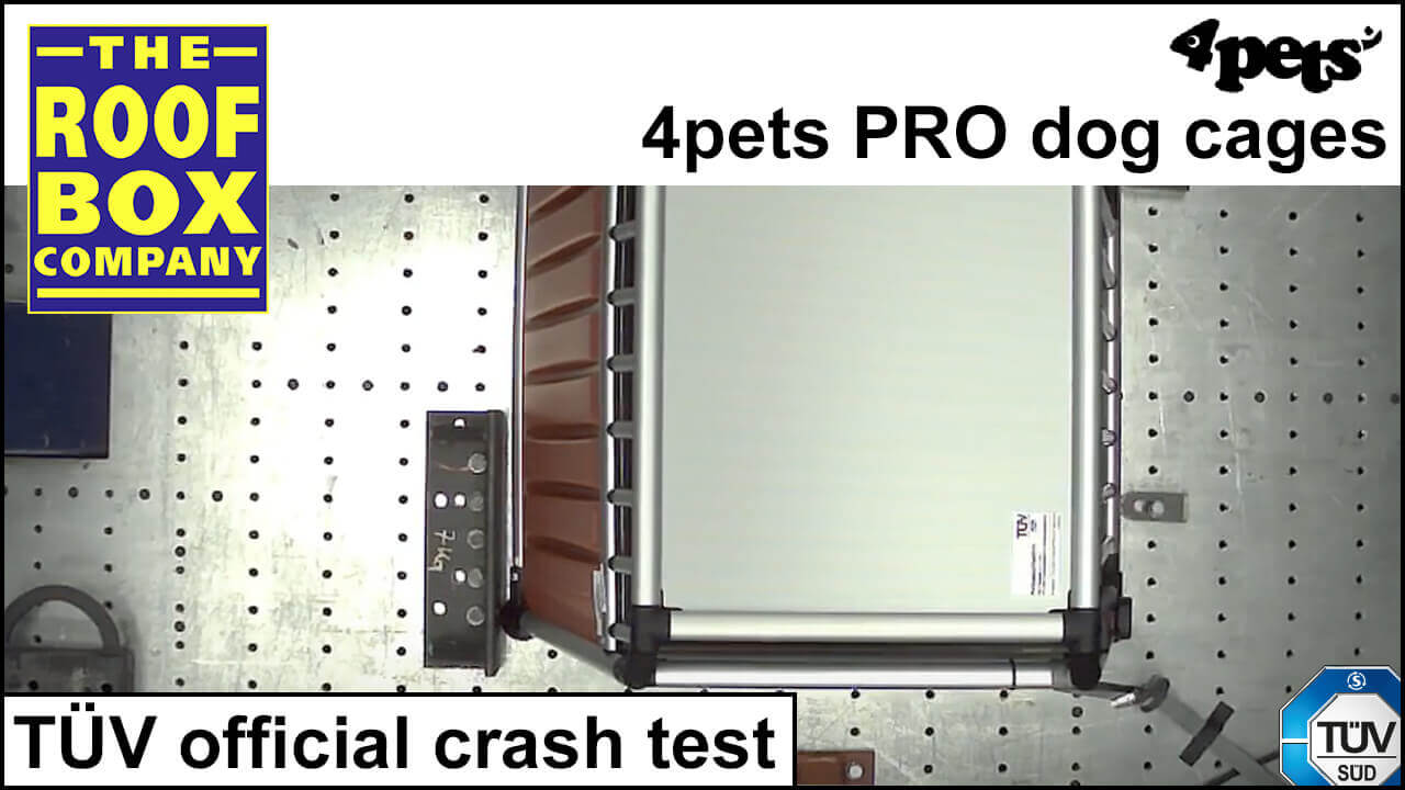 4pets PRO dog cages - TÜV official crash test