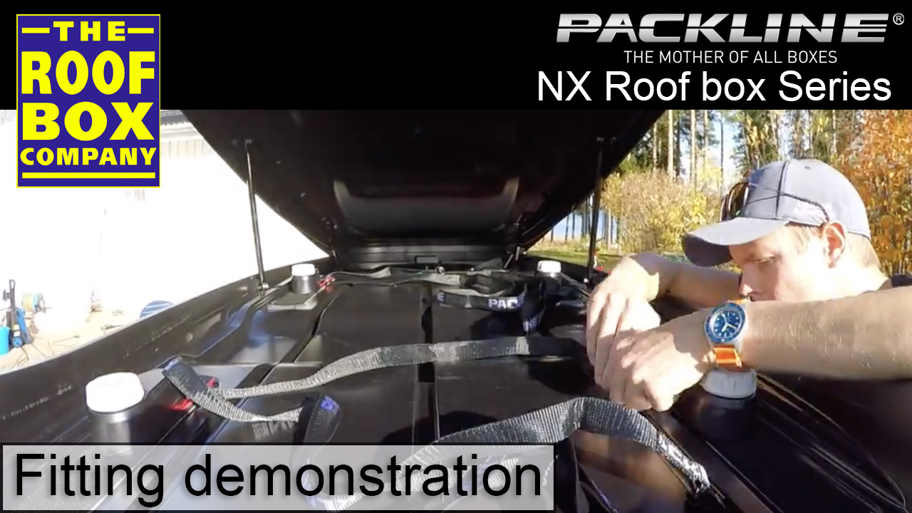 Packline NX 215 roof box - How to fit