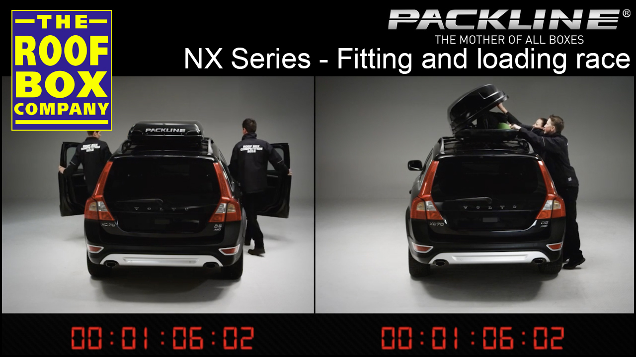 Packline Roof box - Fitting and loading race!