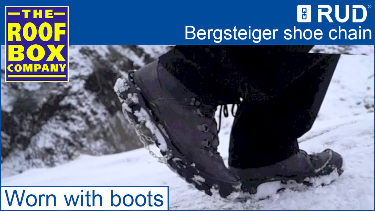 RUD Bergsteiger worn with boots