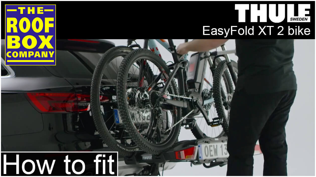 Thule EasyFold XT 2 bike - How to fit