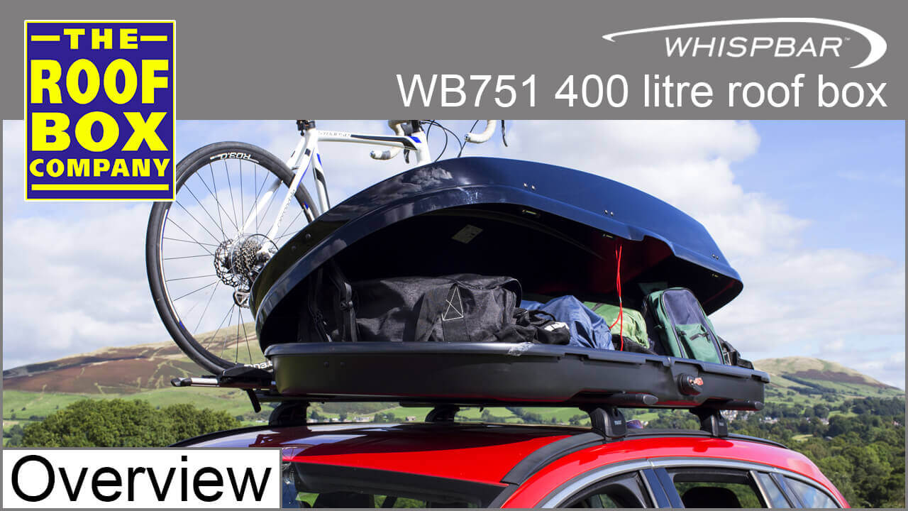Whispbar 750 series 400 litre roof box WB751 Overview