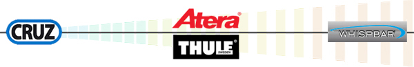 A continuum of roof bar quality: CRUZ, Atera, Thule and Prorack, representing the best of the mid market to the very best.