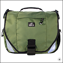 Spire Endo laptop messenger bag in Cosmic green/black