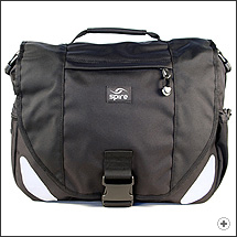 Spire Mojo laptop messenger bag in Stealth black