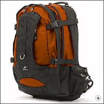 Spire Torq laptop backpack in Burnt orange/black