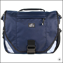 Spire Viro laptop messenger bag in Midnight blue/black