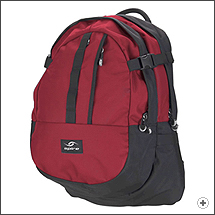 Spire Zoom laptop backpack in Chili red/black