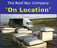 The Roof Box Company on location at Danny Bridge car park, near Sedbergh