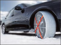 AUTOSOCK textile wheel covers/snow chains at The Roof Box Company
