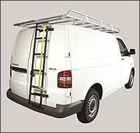VAN-RACKS: commercial and heavy duty roof bar systems, roof racks and other accessories from Rhino, Saunders and Thule Professional