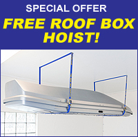 THE ROOF BOX COMPANY: SPECIAL OFFER - FREE ROOF BOX HOIST WITH EVERY ROOF BOX SOLD!