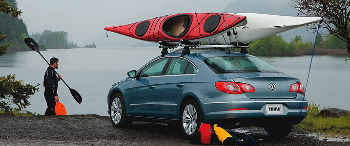 Kayak, canoe and small boat carriers, surfboard and sailboard racks, mast and paddle holders and other water sports accessories at The Roof Box Company
