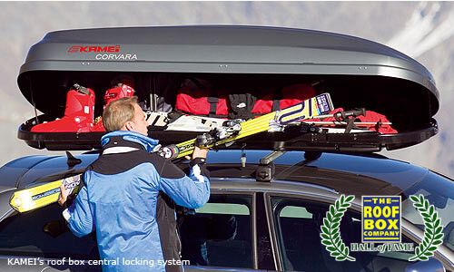 The Roof Box Company Hall of Fame: KAMEI's roof box central locking system, Prorack's S-wing roof bars, AutoSock car tyre 'socks', The Dog Bag pet carrier, Atera's STRADA tow bar bike carrier.