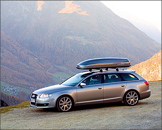 Elegant Kamei Corvara Roof Box On An Audi A6 Avant At The Roof Box Company